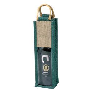 Πράσινη τσάντα για κρασί