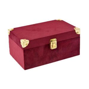 Μπορντώ βελούδινο κουτί 23 Χ 14 Χ 11 εκ.