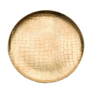 Δίσκος κροκό σε χρυσό. 33 εκ.