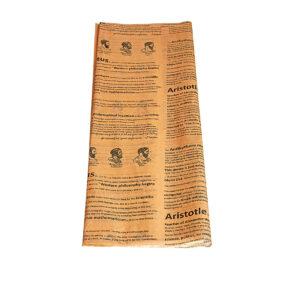 Χαρτί αφής 50 τεμάχια - 50 Χ 70 εκ. - φυσικό χρώμα με φιλοσόφους