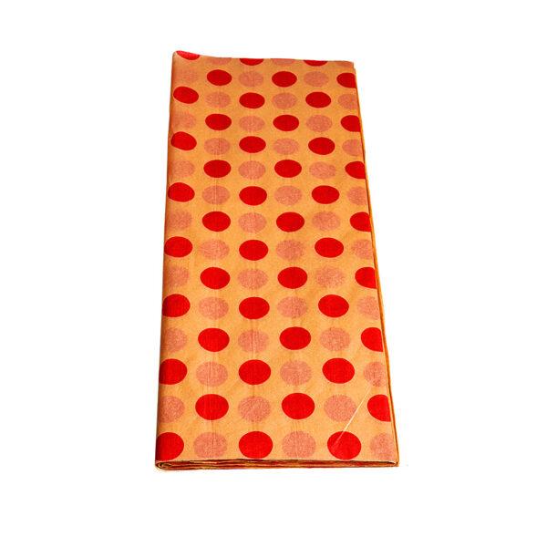 Χαρτί αφής 50 τεμάχια - 50 Χ 70 εκ. - φυσικό χρώμα με κόκκινες βούλες