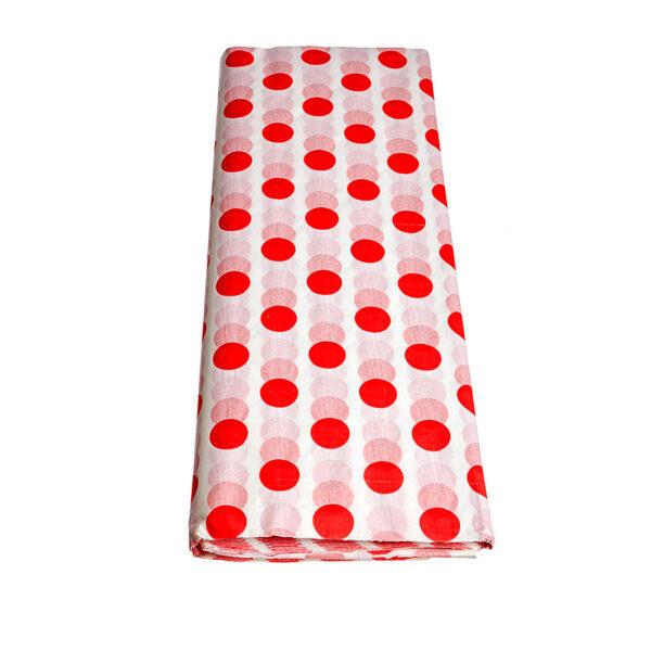 Χαρτί αφής 50 τεμάχια - 50 Χ 70 εκ. - λευκό χρώμα με κόκκινες βούλες