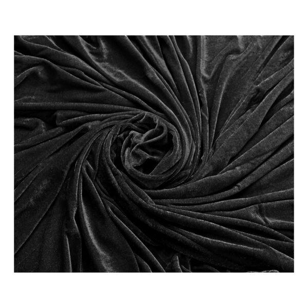 Ύφασμα βελουτέ μαύρο 1,5 μέτρο Χ 3 μέτρα