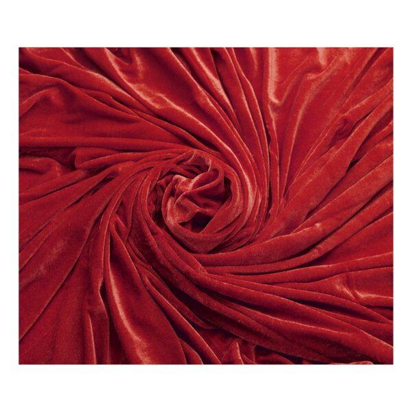 Ύφασμα βελουτέ κόκκινο 1,5 μέτρο Χ 3 μέτρα