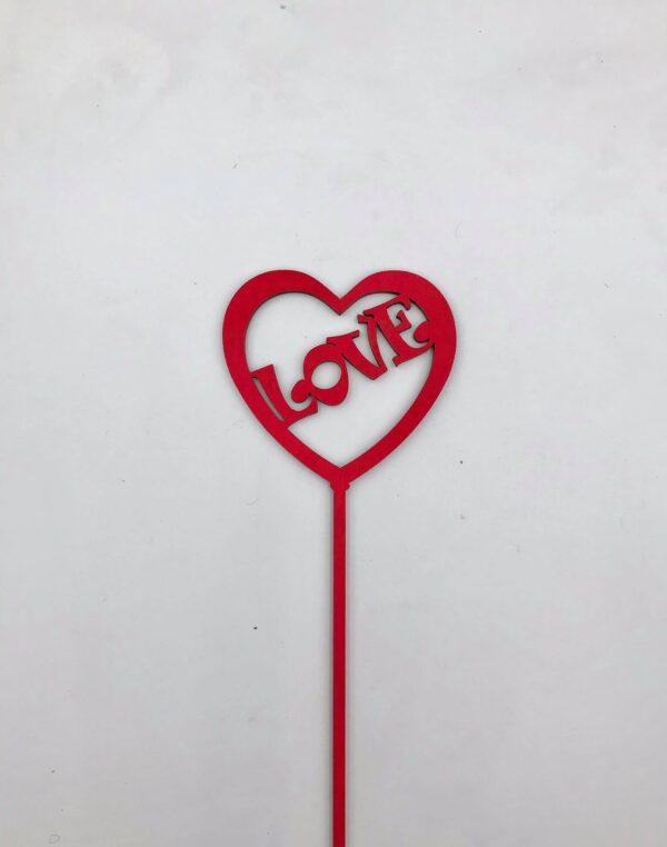 """Στικ """" Love"""". Σετ των 3 τμχ. 30 εκ."""