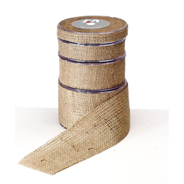 Κορδέλα λινάτσα φυσικό χρώμα