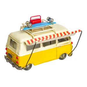 Κίτρινο vintage φορτηγάκι 18 Χ 12 εκ.