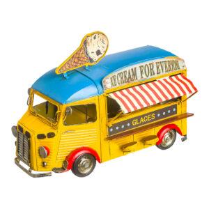 Κίτρινο vintage φορτηγάκι-κατάστημα παγωτού 28 Χ 18 εκ.