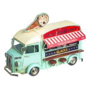 Βεραμάν vintage φορτηγάκι-κατάστημα παγωτού 27 Χ 18 εκ.