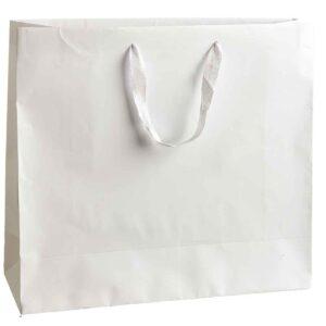 Λευκή τσάντα με λευκό κορδόνι 38,5 Χ 43 Χ 15 εκ. Σετ των 10 τεμαχίων