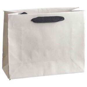 Λευκή τσάντα με μαύρο κορδόνι 20 Χ 25 Χ 9 εκ. Σετ των 10 τεμαχίων
