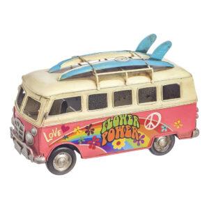 """Vintage φορτηγάκι """"Flower Power"""" 22 εκ."""