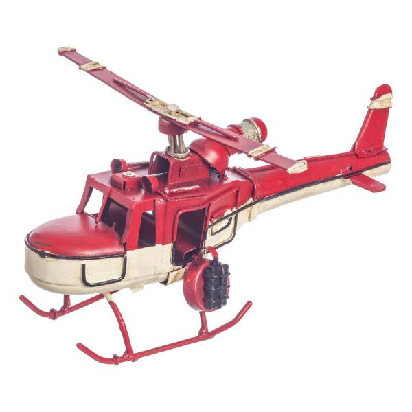 Κόκκινο vintage ελικόπτερο 15 εκ.