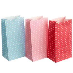 Φακελάκια χάρτινα πουά 18 Χ 9 Χ 5,5 εκ. Σετ των 50 τεμαχίων