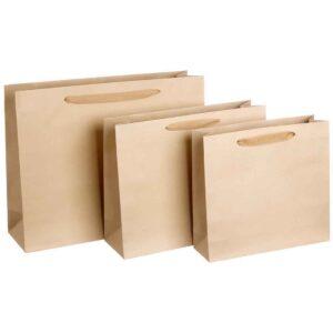 Εκρού τσάντα με μπεζ κορδόνι 46 Χ 36 εκ.. Σετ των 10 τεμαχίων