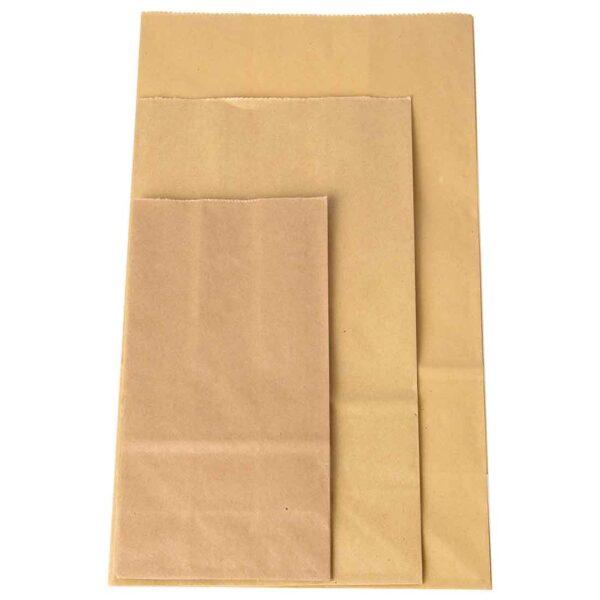 Φακελάκια χάρτινα σε φυσικό χρώμα. Σετ των 50 τεμαχίων