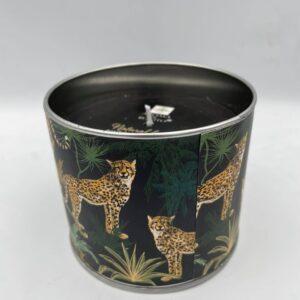 Κερί μαύρο με θέμα τη ζούγκλα 10 Χ 8 εκ.