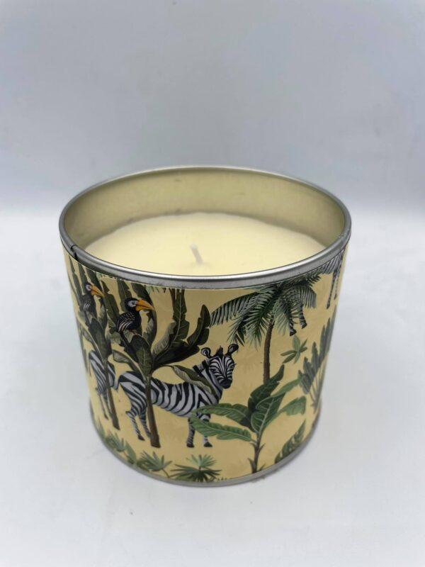 Κερί μπεζ με θέμα τη ζούγκλα 10 Χ 8 εκ.