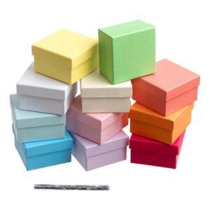 Κουτιά μονόχρωμα 6,5 Χ 6,5 Χ 4 εκ.
