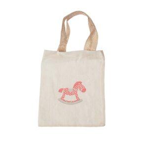 Τσάντα υφασμάτινη με αλογάκι 20 Χ 17 εκ.
