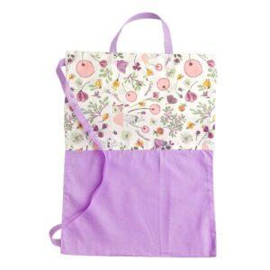 Υφασμάτινη τσάντα λιλά με λουλούδια
