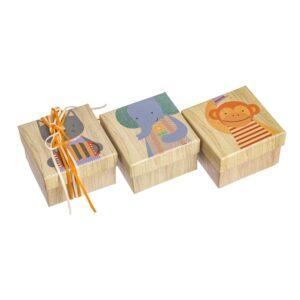 Κουτιά με ζωάκια 7,5 Χ 7,5 Χ 5 εκ.