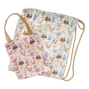 Υφασμάτινες τσάντες με αρκουδάκια