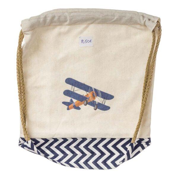 Τσάντα υφασμάτινη με αεροπλάνο 30 Χ 30 εκ.