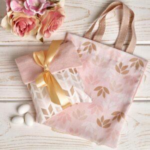 Φάκελος ή τσαντάκι σε ροζ-χρυσό
