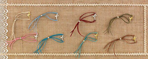 Μαρτυρικά βραχιολάκια με σταυρουδάκι. Σετ των 50 τεμαχίων